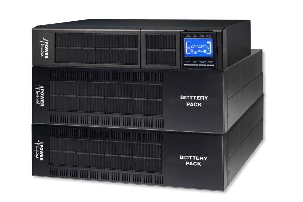 6000VA / 5400W VFI Series Online UPS System. Rack/Tower + 2 Cab