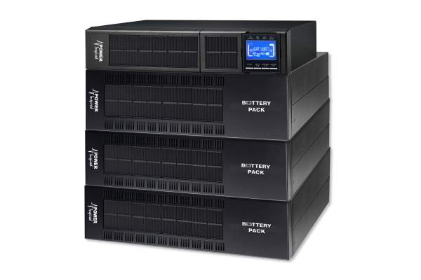 6000VA / 5400W VFI Series Online UPS System. Rack/Tower + 3 Cabs